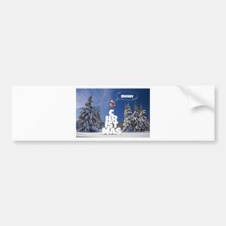 Merry christmas letters favor Santa Bumper Sticker