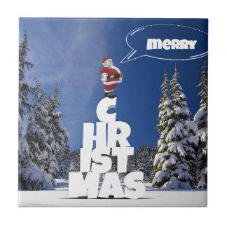 Merry christmas letters favor Santa Tile