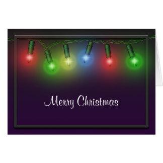 Merry Christmas Lights Greeting Card