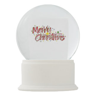 Merry Christmas lights Snow Globe