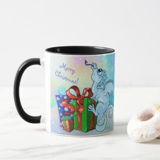 Merry Christmas! lil' Dragon snowflake Mug