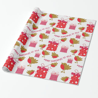 Merry Christmas Little Birdie Wrapping Paper