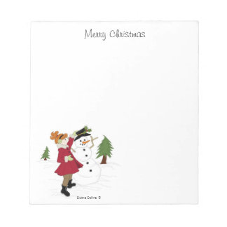 Merry christmas Little girl Notepad