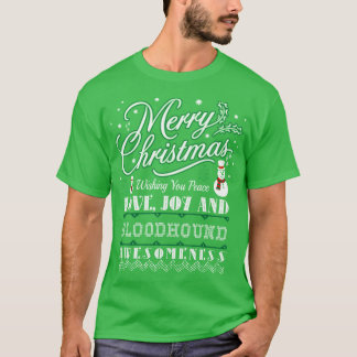 Merry Christmas Love Bloodhound Dog Ugly Sweater