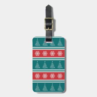Merry Christmas Luggage Tag