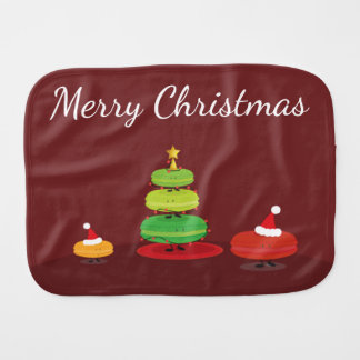 Merry Christmas Macarons | Burp Pad Burp Cloth