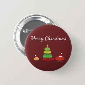 Merry Christmas Macarons   Button
