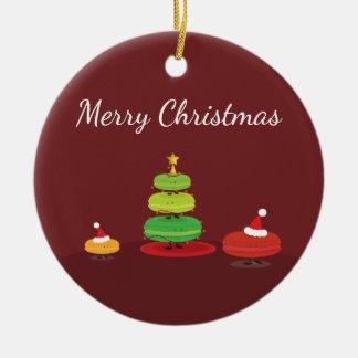Merry Christmas Macarons   Ornament