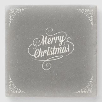 Merry Christmas Marble Stone Coaster