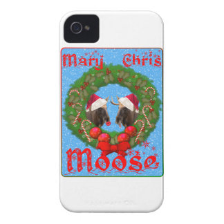 Merry Christmas Mary Chris Moose iPhone 4 Case-Mate Cases