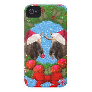 Merry Christmas Mary Chris Moose iPhone 4 Covers