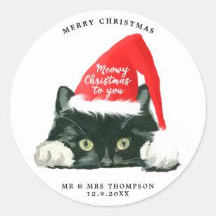 merry christmas meowy christmas cat sticker - Merry Christmas Cat