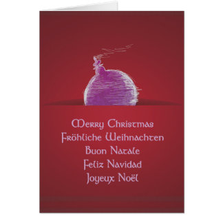 Merry Christmas merry Christmas Buon Natale Greeting Cards