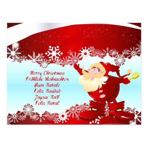 Merry Christmas merry Christmas Buon Natale Post Card