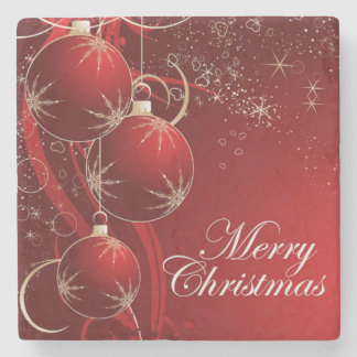 Merry Christmas, Merry Xmas Stone Coaster