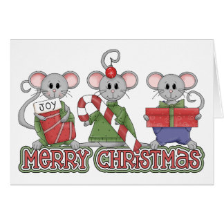 Merry Christmas Mice Card