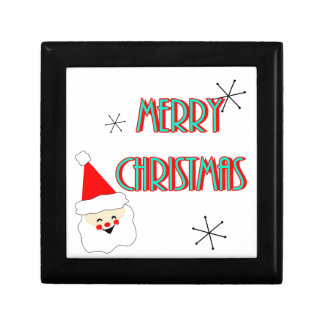 merry christmas mid century santa claus gift box