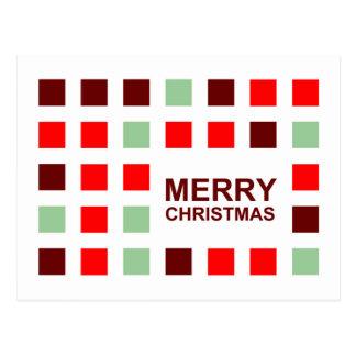 merry christmas (mod squares) postcard