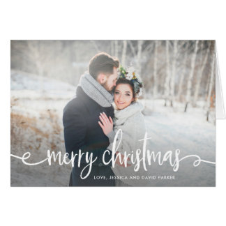Merry Christmas | Modern Rustic Photo Card