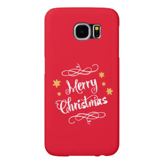 Merry Christmas Modern Typography Samsung Galaxy S6 Cases