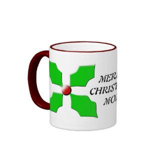 Merry Christmas Mom Custom Holly Mug