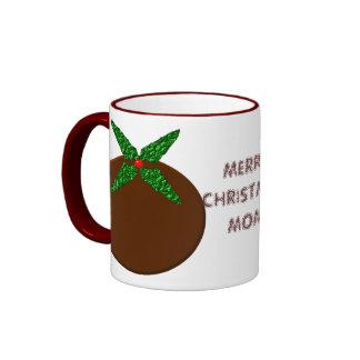 Merry Christmas Mom Custom Pudding Mug