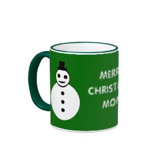 Merry Christmas Mom Custom Snowman Mug