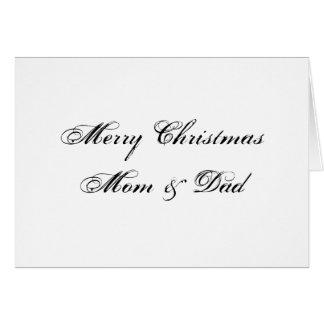 Merry Christmas Mom & Dad Card