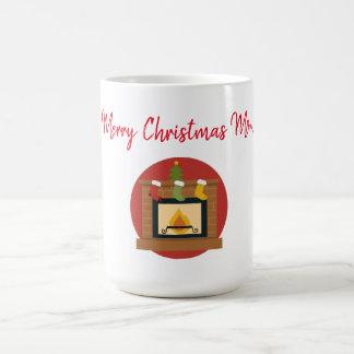 Merry Christmas Mom Fireplace Magic Mug