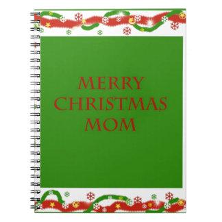 Merry Christmas Mom Notebook
