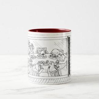 Merry Christmas Mom Two-Tone Coffee Mug