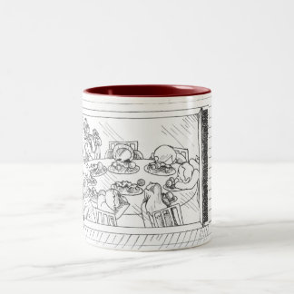 Merry Christmas Mom Two-Tone Mug
