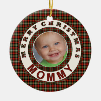 Merry Christmas Mommy Holiday Photo Ceramic Ornament