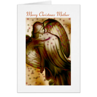 Merry Christmas Mother - Angel Greeting Card