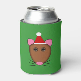 Merry Christmas Mouse Can Cooler