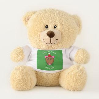 Merry Christmas Mouse Custom Teddy Bear