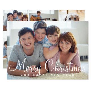 Merry Christmas Multiple Photos Card