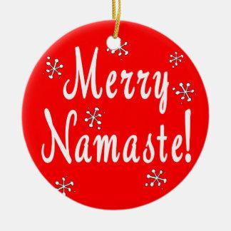 Merry Christmas Namaste Ornament