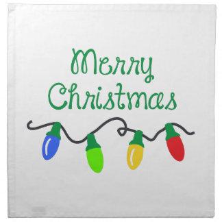 MERRY CHRISTMAS PRINTED NAPKINS