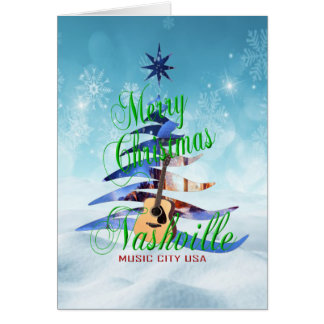 Merry Christmas Nashville Christmas Card - BLU