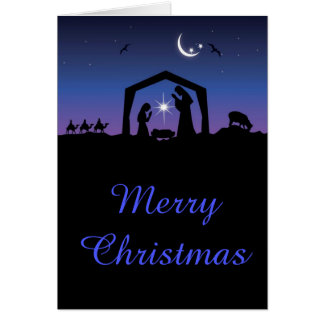 Merry Christmas Nativity of Jesus Card
