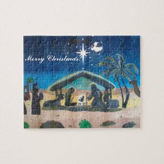 Merry Christmas Nativity Scene Puzzle