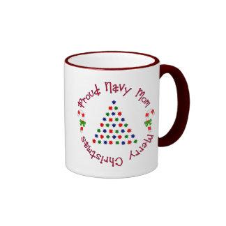 Merry Christmas (Navy Mom) Mugs