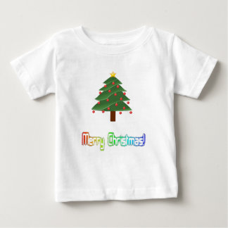 Merry Christmas Neon Rainbow Baby T-Shirt