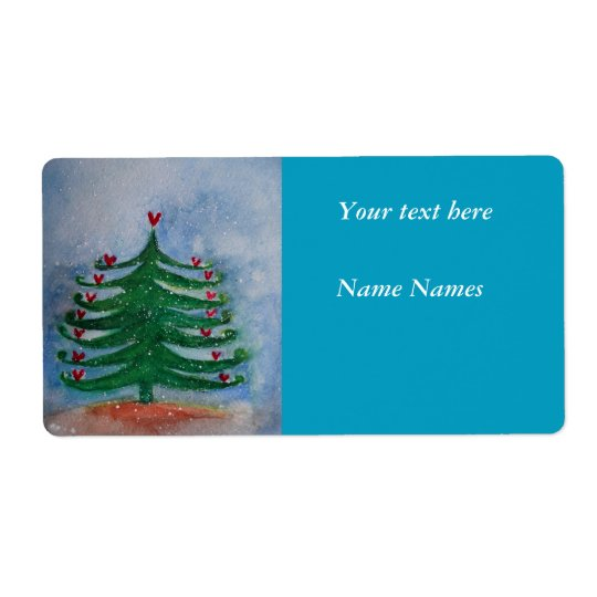 Merry Christmas New Year Holiday Label Shipping Label