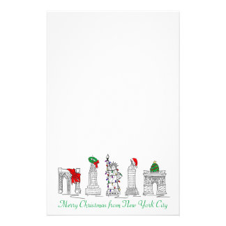 Merry Christmas New York City Holiday Stationery