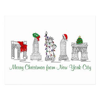 Merry Christmas New York City NYC Xmas Postcards