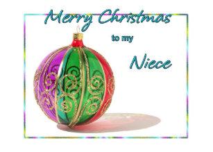 Merry Christmas Niece.Merry Niece Christmas Cards Zazzle Ca