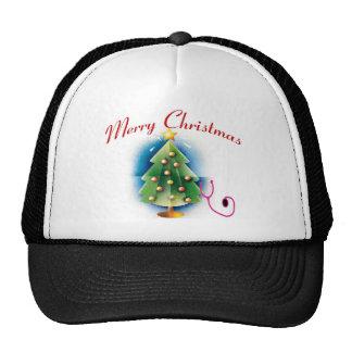 Merry Christmas NURSE TREE Mesh Hats