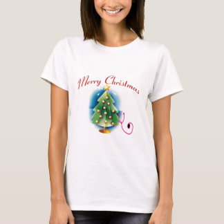 Merry Christmas NURSE TREE T-Shirt